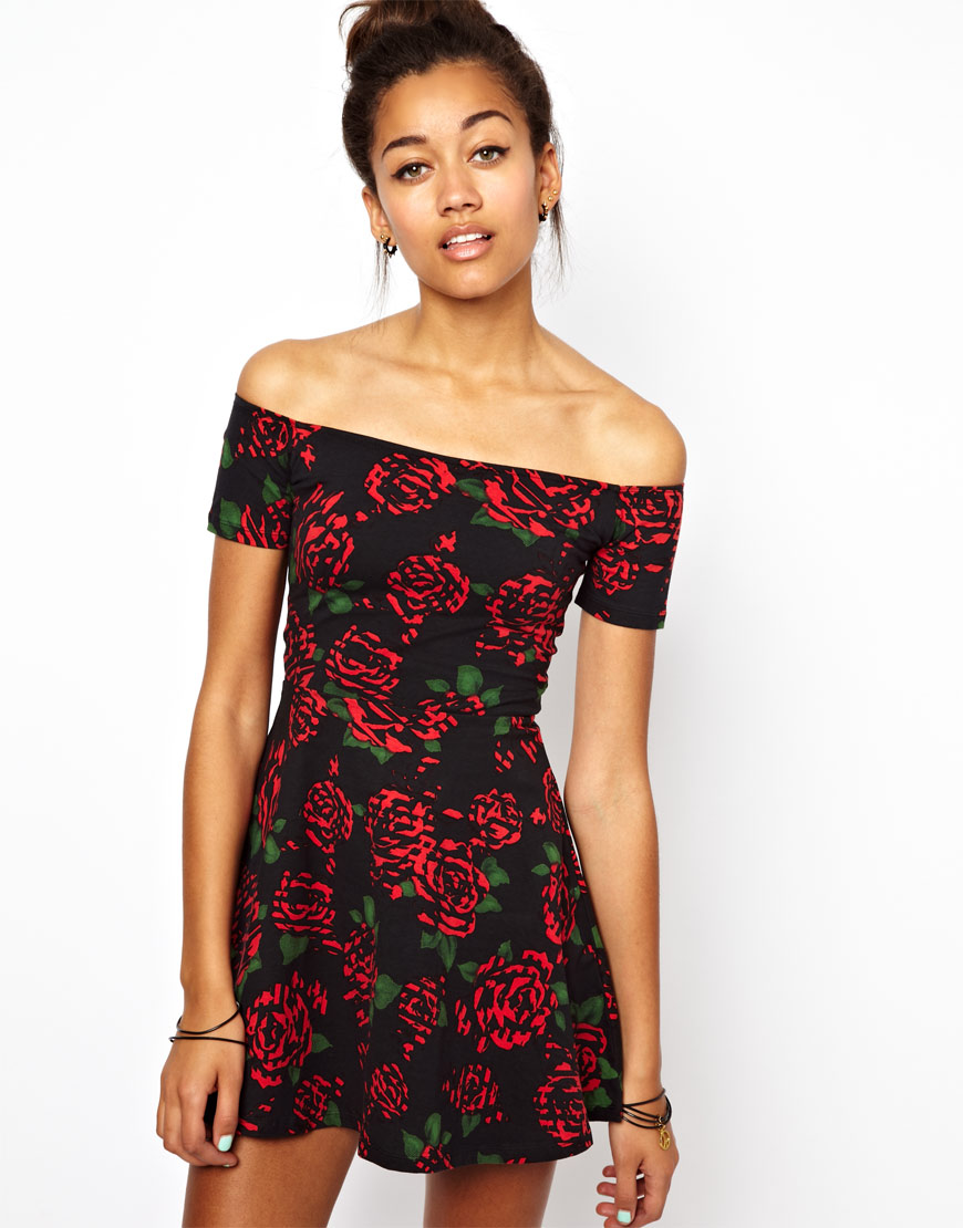 Floral Roses Dress Dress in Tiger Rose Print