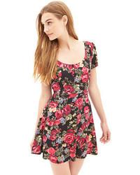 Forever 21 Woven Floral Skater Dress