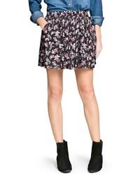 Mango Outlet Floral Print Skater Skirt