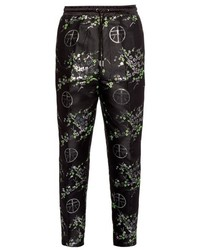 Astrid Andersen Floral Print Satin Trousers