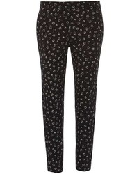 Dorothy Perkins Black Floral Pique Trousers