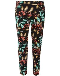 Dorothy Perkins Floral Cotton Sateen Cropped Trousers