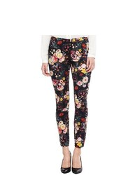MNG by Mango Floral Print Ankle Pants