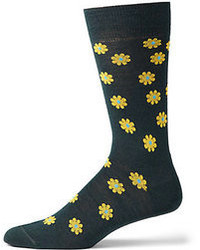 Saks Fifth Avenue Collection Flower Printed Socks