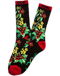 Dgk The Permanent Vacation Crew Socks In Black
