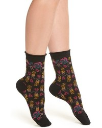 Urban Outfitters Free People Floral Ankle Socks
