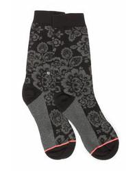 Stance Alaconte Black Floral Print Socks