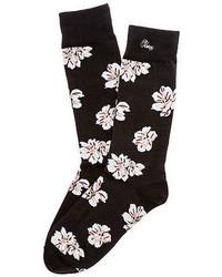 Obey The In Bloom Socks In Black Floral