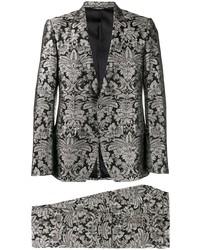 Black Floral Suit