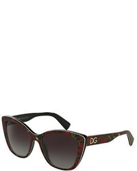 Dolce & Gabbana Flowers Dna Cat Eye 54mm Sunglasses