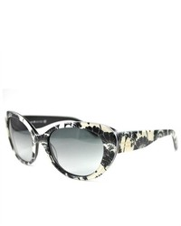 Kate Spade Sunglasses Franca 2s 0jee Black Cream Floral 54mm