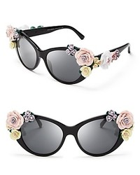 Oversized Floral Cat Eye Sunglasses