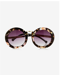 Express Oversized Round Floral Sunglasses