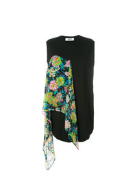 MSGM Sweater Dress With Floral Scarf Detail