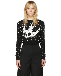 MCQ Alexander Ueen Black Floral Swallow Pullover