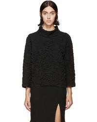 Alexander McQueen Black Embossed Floral Sweater
