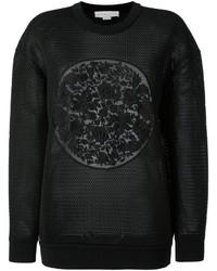 Stella McCartney Floral Mesh Crew Sweatshirt