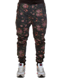 Arsnl The Haru Dropcrotch Sweatpant In Mesh Floral