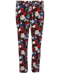 Petite red floral joggers medium 175592