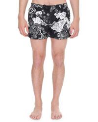 Dolce & Gabbana Floral Print Swim Shorts Black