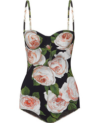 Dolce & Gabbana Cutout Printed Swimsuit