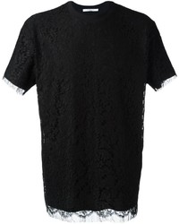 Givenchy Floral Lace Overlay T Shirt