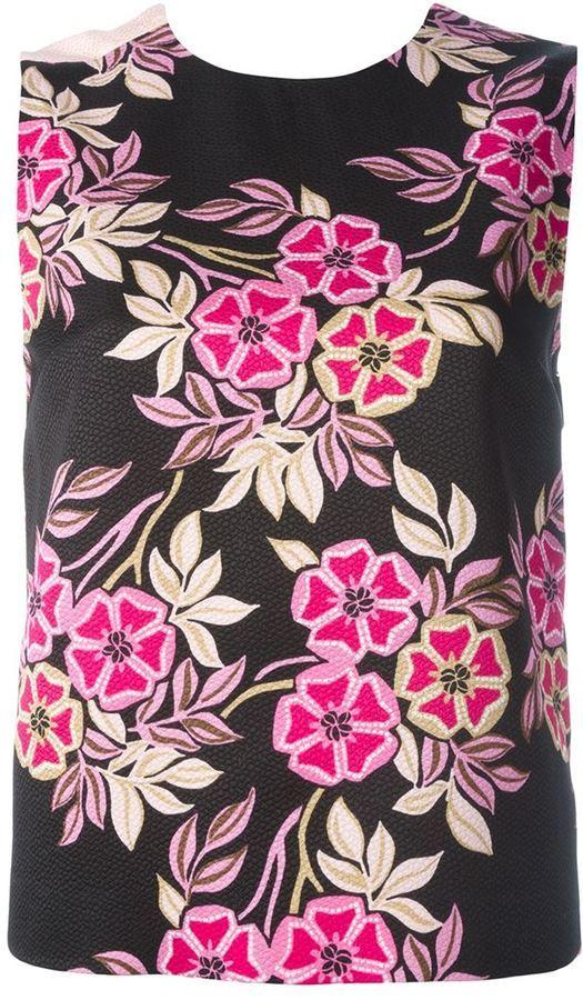 MSGM Floral Print Tank Top