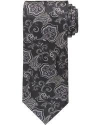 Black Floral Tie