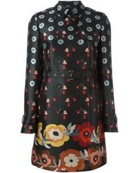 Floral print trench coat medium 3637895
