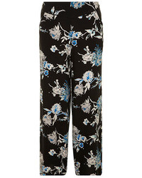 Dorothy Perkins Black And Blue Floral Palazzo