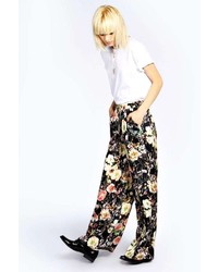Boohoo Boutique Alice Satin Floral 4 Pocket Jog Trousers