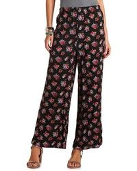 Charlotte Russe Floral Print Palazzo Pants