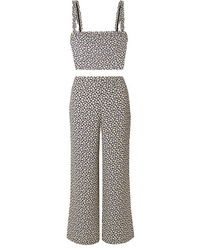 Reformation Coco Floral Print Crepe Top And Pants Set