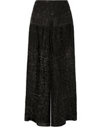Anna Sui Devor Chiffon Wide Leg Pants