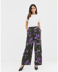 Y.a.s Floral High Waisted Trouser