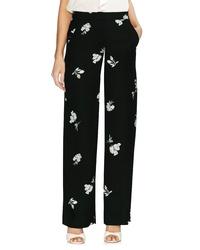 Vince Camuto Floral Print Wide Leg Pants