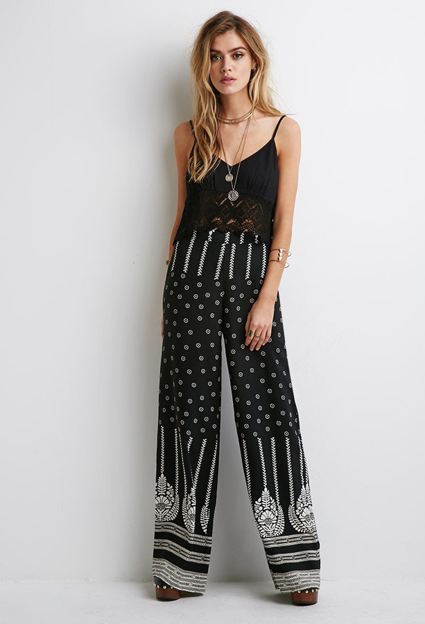 Forever 21 Floral Print Wide Leg Pants | Where to buy & how to wear