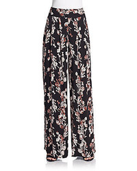 Floral vine wide leg pants medium 370909