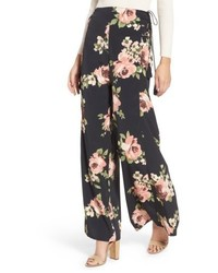 Floral wide leg pants medium 5255807