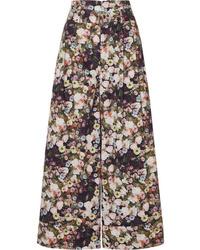 Adam Lippes Oversized Floral Print Cotton Poplin Pants