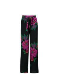 Amir Slama Roses Print Wide Leg Trousers Unavailable