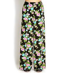Forever 21 Vibrant Floral Wide Leg Pants