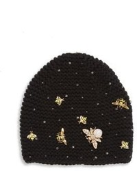 Jennifer Behr Swarovski Crystal Wasp Cashmere Beanie