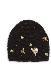Swarovski crystal wasp cashmere beanie medium 848519