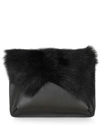 Black Fluffy Clutch