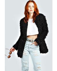 Black Fluffy Coats for Women | Women's Fashion