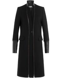 Karl Lagerfeld Virgin Wool Coat With Zippers