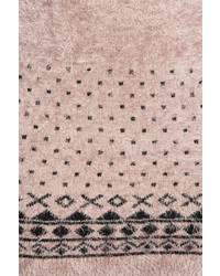 acb6884fddc ... Boohoo Jasmyn Fluffy Knit Aztec Trim Tunic Jumper Dress ...