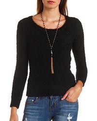 Charlotte Russe Fuzzy Popcorn Knit Sweater