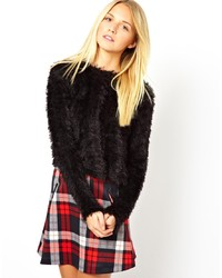 Asos Cropped Fluffy Sweater
